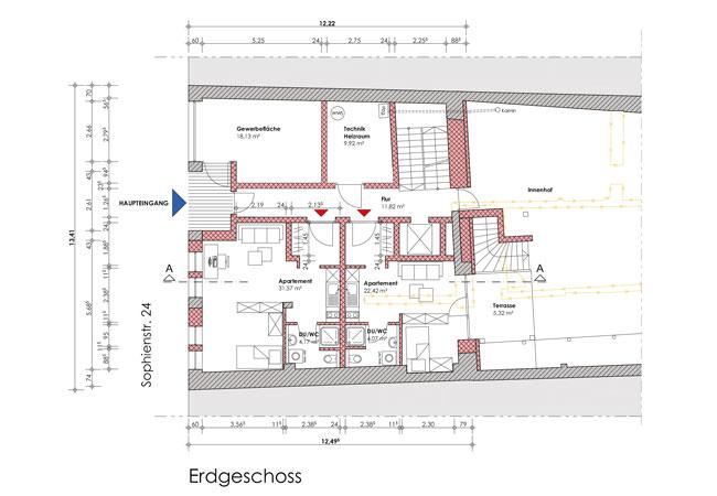 pb-planung-stadthaus_erdgeschoss_Sophienstraße-Tektur